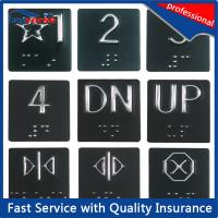 Buy cheap Plastic Elevator Rigid Plastic Signs , Braille Floor Number Signs from wholesalers