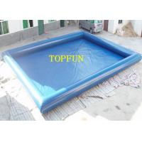 Buy cheap Single Pipe 10 x 6 m Blue Inflatable Water Pool For Kids With Water Roller from wholesalers