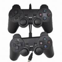 Buy cheap USB Double Vibration Joypads with 12-fire/8-directional Buttons and Two Analog Sticks from wholesalers