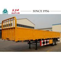 Buy cheap 2 Axles Side Wall Trailer , Flatbed Equipment Trailer 40000 Kgs Payload from wholesalers