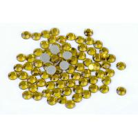 Buy cheap Yellow Hot Fix Crystals / Strong Glue Iron On Rhinestones 12 Or 14 Facets from wholesalers