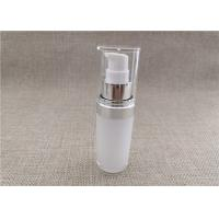 Buy cheap White Acrylic Dispenser Bottles , Straight Round Airless Lotion Pump Bottles from wholesalers