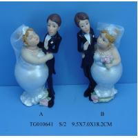 Buy cheap Popular Resin Wedding Couple Figurines Baby Shaped For Colorful Delicate Art from wholesalers