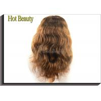 Buy cheap Medium Cap 100% Remy Human Hair Full Lace Wigs For Black Women , 5A Grade from wholesalers