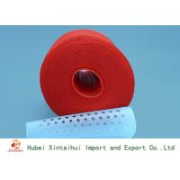Buy cheap Dyed Red Color 100 Polyester Spun Yarn For Garments Industry Kontless from wholesalers