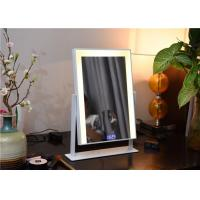 Buy cheap LED desk professional makeup mirror with lights , yellow / white light from wholesalers