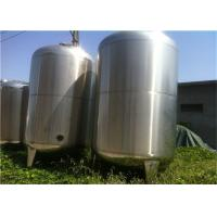 Buy cheap Food Grade Liquid Mixing Tank / Yogurt Fermentation Tank With Double Wall Single Wall product