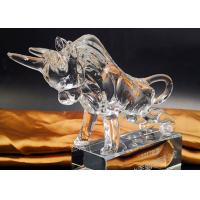 China Crystal Cow Animal Figurines Model For Office / Home Decorations on sale