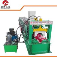 Buy cheap Running Stably Steel Roof Ridge Cap Roll Forming Machine With Press Mould from wholesalers