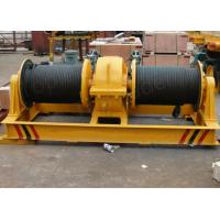 Buy cheap Double drum slow speed electric winch for pulling rail cart on slop rails from wholesalers