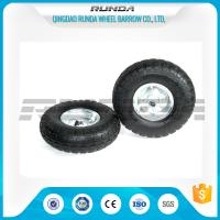 Buy cheap Galvanized Color Pneumatic Rubber Wheels Steel Rim Ball Bearing 55mm Hub 3.50-4 from wholesalers