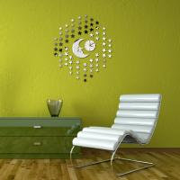 Buy cheap Fashion new design five star shaped mirror wall clock wholesale from wholesalers