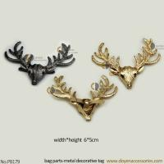 Buy cheap Fashion accessories decoration handbag gun plated handbag charm deer metal decorative tag with pin from wholesalers