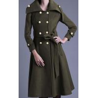 Buy cheap Slim New Arrivals Wool Double Breasted women's coat for Winter from wholesalers