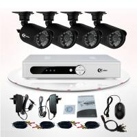Buy cheap CMOS IR 4 Channel CCTV DVR Kit Wireless Outdoor Security Camera Systems For Home from wholesalers