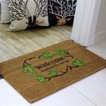 Buy cheap Brown Coir Entrance Matting , Coir Logo Mats Healthy Environmental Function from wholesalers