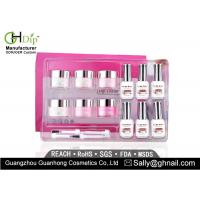Crack / Chip Resistant Acrylic Nail Dip Kit French Manicure Environment Friendly