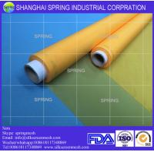 China 120 mesh count(47T) 100% polyester monofilament custom t shirt silk screen printing mesh/screen printing mesh on sale
