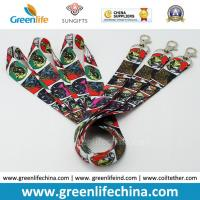 Buy cheap Promotional Custom Polyester Neck Lanyards Fashionable Full Heat Transfer Printing from wholesalers