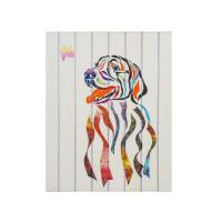 Buy cheap Stretched Dog Ribbon Painting Soft Hand Feeling For Living Room Custom Design from wholesalers