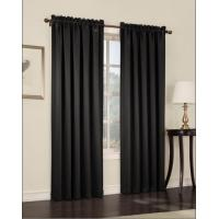 Buy cheap No Grommets Insulated 100 Polyester Black Panel Curtains For Home / Hotel from wholesalers