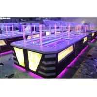 Buy cheap Yellow LED Commercial Buffet Equipment Granite Marble Tops Overhead Crystal Glass Gantry from wholesalers