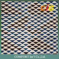 Buy cheap Fireproof Printed Auto Upholstery Fabric Tricot Fabric For Car Seat / Bus Seat product