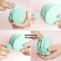 Promotion gift macarons silicone purse wallet with zipper