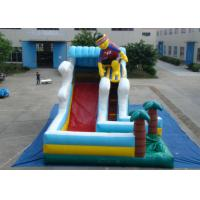 Buy cheap Surfboard Man Outdoor Inflatable Water Slide , Party Big Blow Up Water Slides from wholesalers