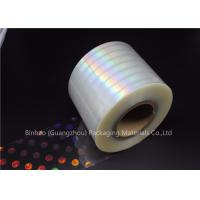 Buy cheap Anti Fake BOPP Holographic Laser Flexible Packaging Film Multiple Extrusion Thickness product