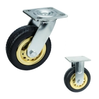 Buy cheap Elastic Rubber 6 Inch Locking Swivel Casters , ISO9001 Hard Rubber Caster Wheels from wholesalers