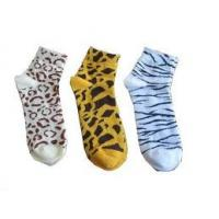 Buy cheap Cute 144N Needle Colorful Lady Kintted Cotton Short Ankle Socks for women / girls from wholesalers
