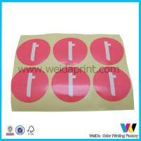 Buy cheap Personalized Pink Color Special Adhesive Paper Sticker on Yellow Base Paper from wholesalers