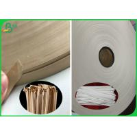 Buy cheap Good Strength 60G 120G Brown Food Grade Kraft Paper For Straw Wrapping from wholesalers