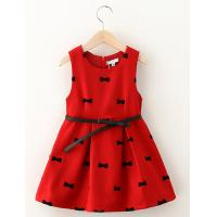 Buy cheap Popular girl dress Children dress princess dress for childern dress wool skirt garment from wholesalers