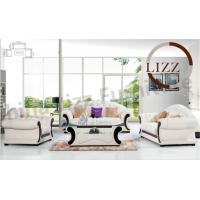 Buy cheap Modern Chesterfield Home Leather Sofa Set With Wooden Frame In White from wholesalers