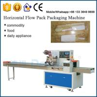 Buy cheap chopsticks spoons wrapping machine / pillow automatic packaging machine from wholesalers