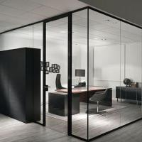Buy cheap clear tempered glass for office partitions ,office used glass wall partitions,glass room divider from wholesalers