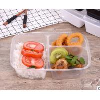 Buy cheap 1000ml three-compartment takeaway food trays with lid product