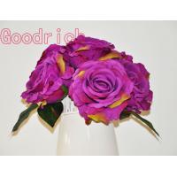 Buy cheap velvet rose bush wedding bouquets home decoration from wholesalers