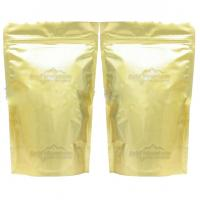 Buy cheap Full Printed Glossy Tea Packaging Pouches Zipper Light Gold Stand Up from wholesalers