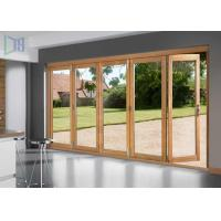 Buy cheap Wood Grain 3D Coating Aluminium Sliding Doors Easy Clean For House Interior from wholesalers