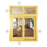 Buy cheap Fireproof Small Double Aluminium Sliding Windows With Thermal Insulating Glass from wholesalers