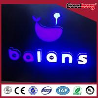 Buy cheap LED plastic metrials frontlit and backlit lighting Channel Alphabet Letter Sign from wholesalers