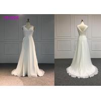 Buy cheap Handmade Simple A Line Wedding Dress / Casual Sleeveless Wedding Ball Gown from wholesalers