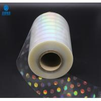 Buy cheap High Shrinkage Rate Holographic Plastic Film With Laser Logo And Name from wholesalers