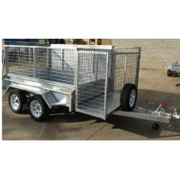 Buy cheap Double Axle 8×5 Tandem Lawn Mowing Trailer With 1800 x 280mm Slide Away Ramps from wholesalers