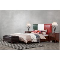 Buy cheap Leather Upholstered Headboard Custom Bed in hotel Guestroom king and queen size bedroom Wooden bed in High quality from wholesalers
