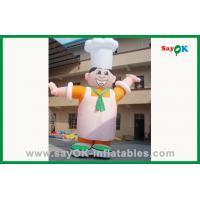 Buy cheap Custom Outdoor Moving Inflatable Chef Inflatable Cartoon Character For Advertising from wholesalers