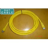 Buy cheap SSTP Twisted Pair Outdoor CAT6 Ethernet Cable Yellow Color RJ45 Over Mold Connection from wholesalers